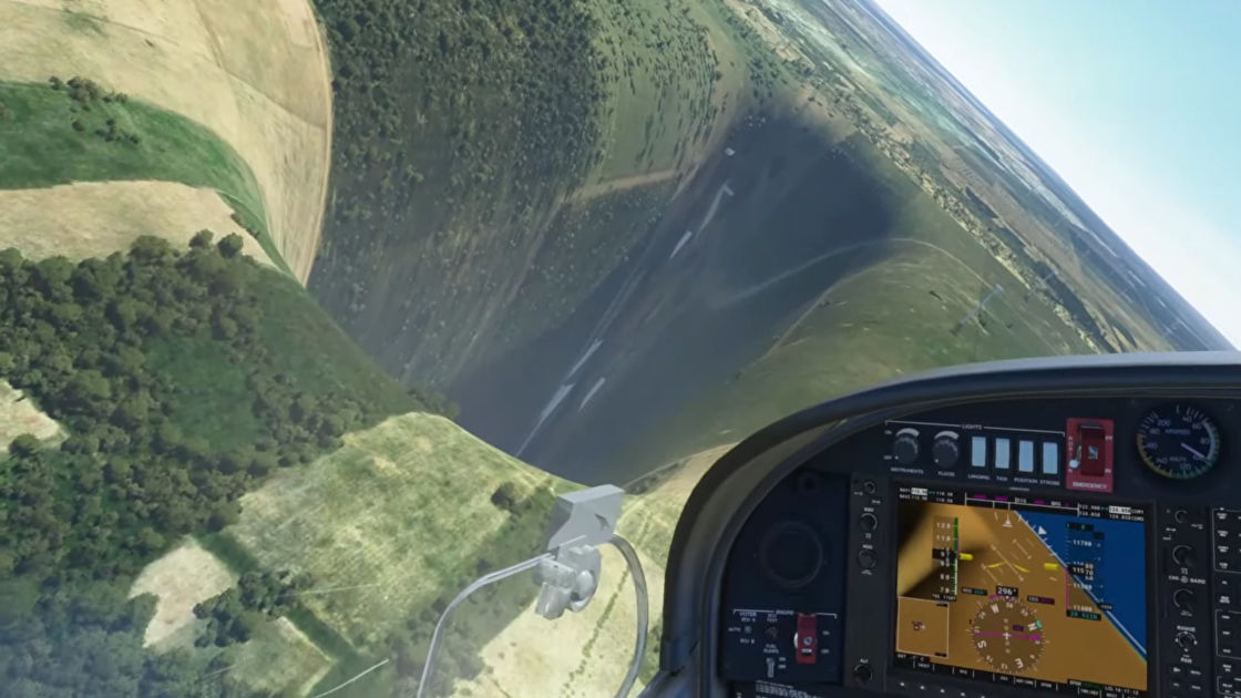 Esporte A perfectly normal abyss has appeared in Microsoft Flight Sim
