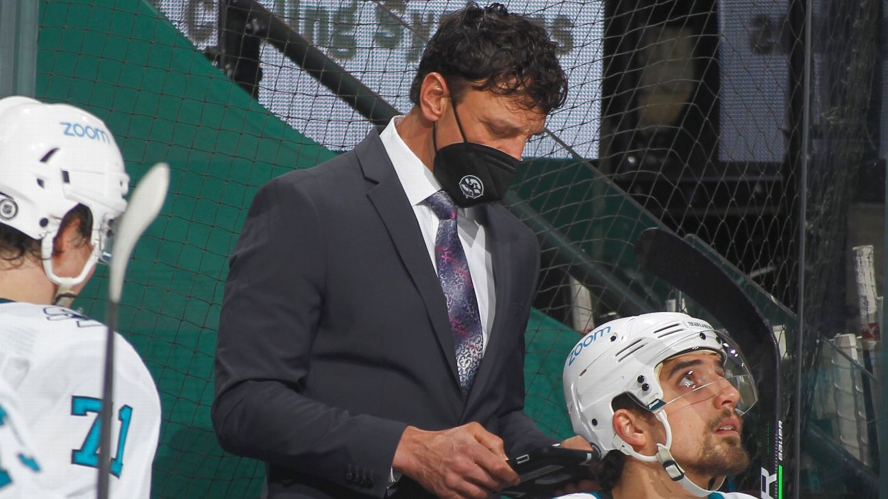 Sharks asst., unable to take vaccine, steps down