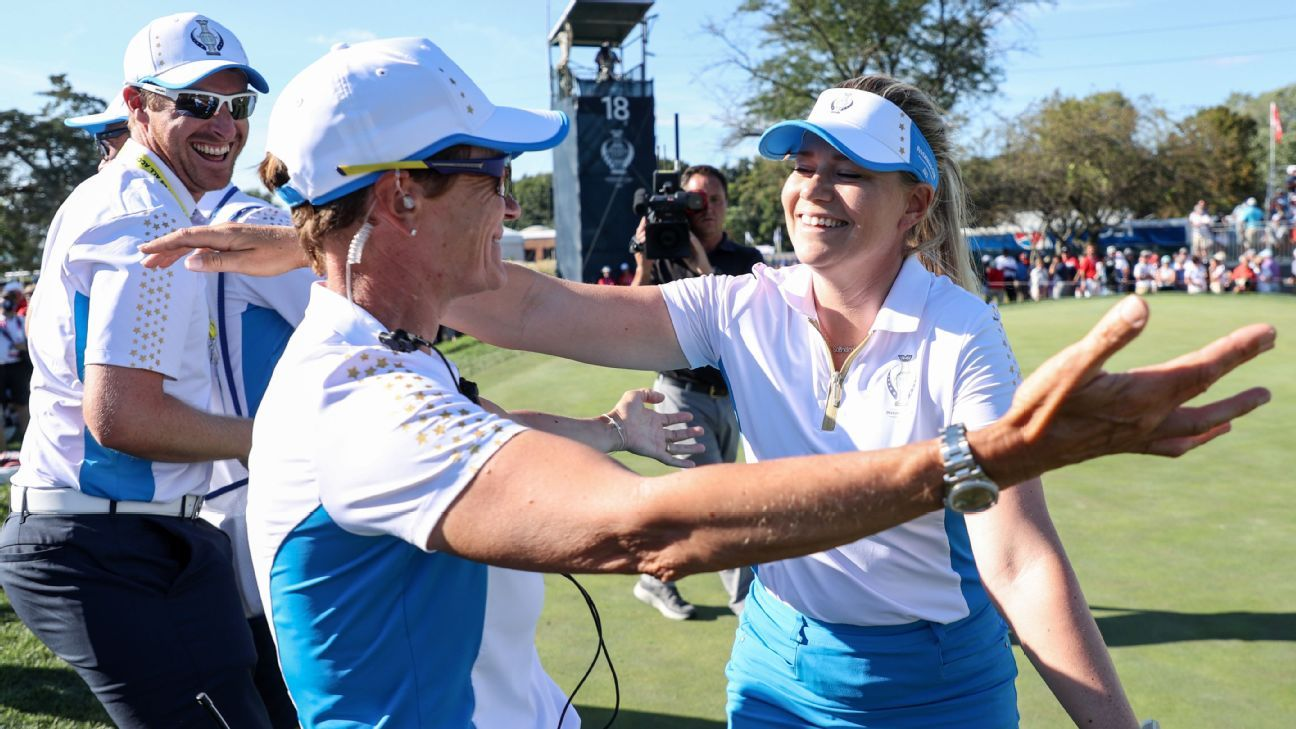 Europe retains Solheim Cup with rare win in U.S.