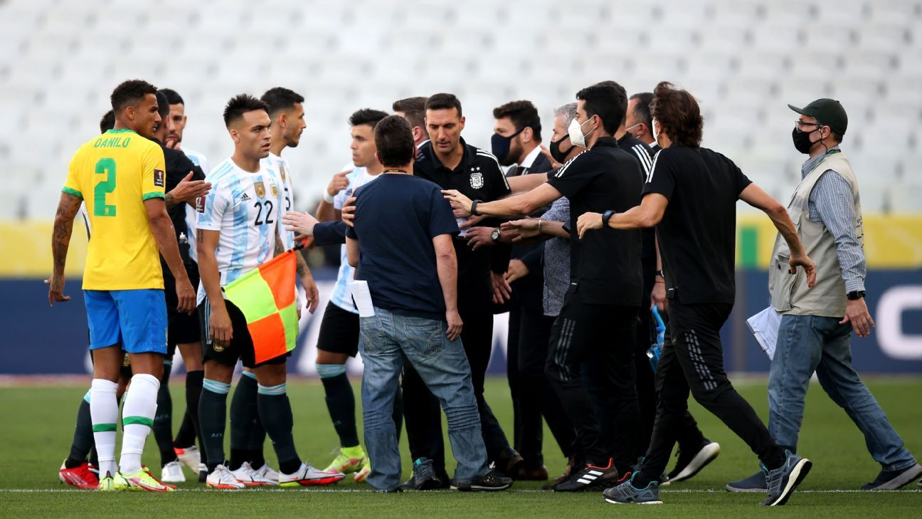 Brazil-Argentina halted by officials, suspended